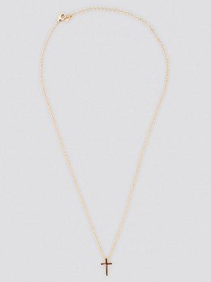 NA-KD Accessories smycke Mini Cross Necklace guld