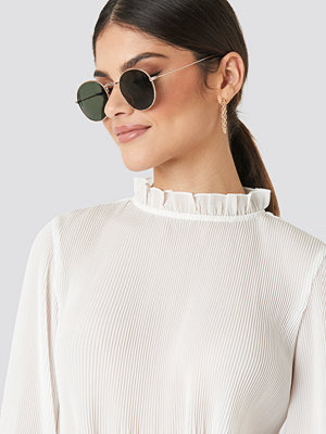 NA-KD Accessories Round Metal Frame Sunglasses grön