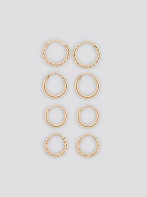 NA-KD Accessories smycke Mini Hoop Earring Set guld