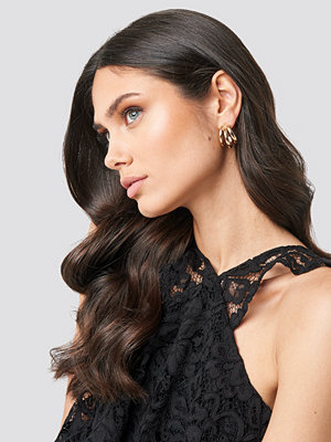NA-KD Accessories smycke Three Layers Hoop Earrings guld