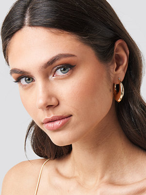 NA-KD Accessories smycke Thick Pointy Hoops (Double Pack) guld
