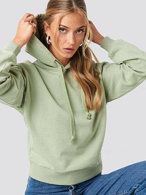 Tröjor - NA-KD Basic Basic Hoodie grön