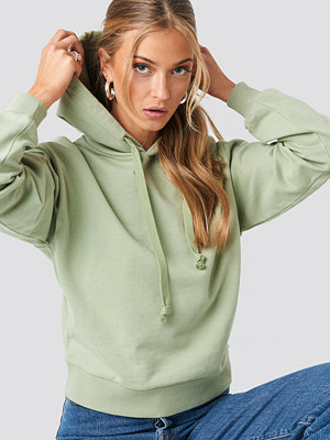 NA-KD Basic Basic Hoodie grön
