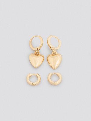 NA-KD Accessories smycke Mini Heart Earring Set guld
