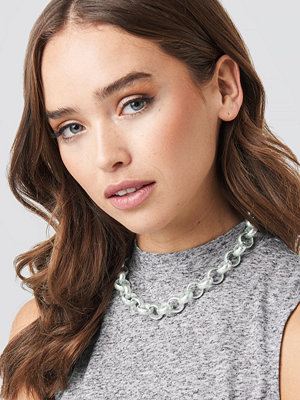 NA-KD Accessories smycke Matte Chunky Chain Necklace silver