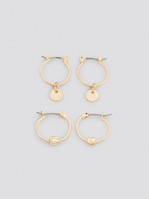 NA-KD Accessories smycke Mini Detailed Hoop Set guld