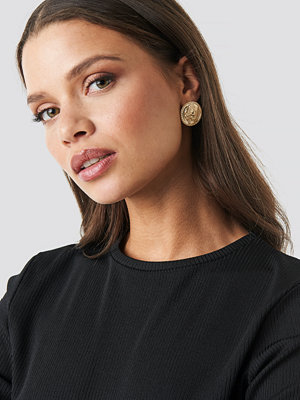 NA-KD Accessories smycke Coin Stud Earrings guld