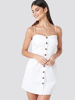 Milena Karl x NA-KD Strap Mini Cotton Dress vit