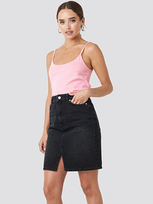 NA-KD Pencil Denim Mini Skirt svart
