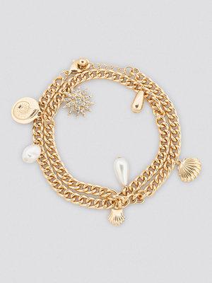 NA-KD Accessories smycke Shell Pendant Chain Bracelet guld