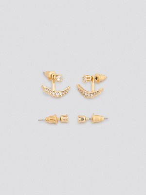NA-KD Accessories smycke Sparkling Halfmoon Earring Set guld