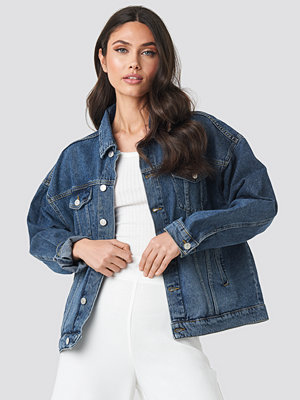 NA-KD Denim Oversized Jacket blå
