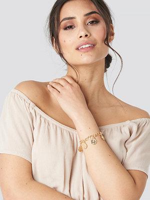 Luisa Lion x NA-KD smycke Coin Bracelet guld