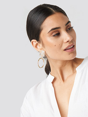 NA-KD Accessories smycke Top Stone Circle Earrings guld