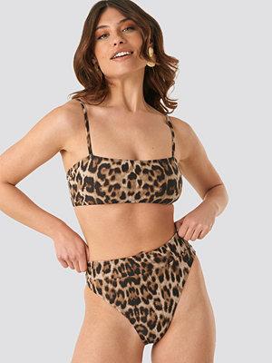 NA-KD Swimwear Maxi High Waist Bikini Panty brun