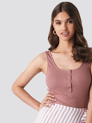 NA-KD Button Front Tank Top rosa