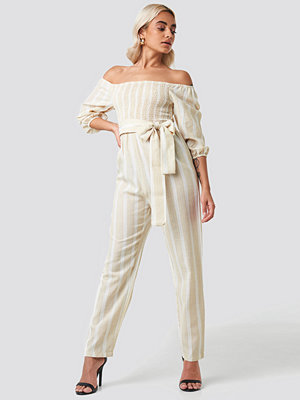 Jumpsuits & playsuits - Trendyol Binding Detailed Jumpsuit beige