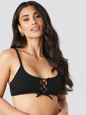 Bikini - Hot Anatomy Lace Up Bikini Top svart
