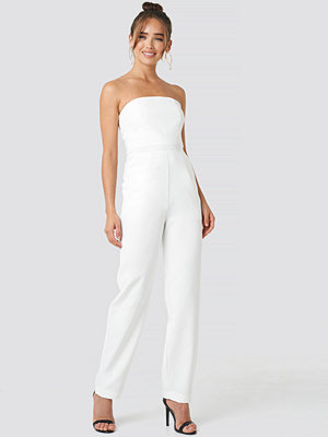 Jumpsuits & playsuits - NA-KD Party Bandeau Jumpsuit vit
