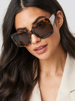 NA-KD Accessories Big Squared Sunglasses brun