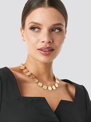 NA-KD Accessories smycke Connected Coin Necklace guld