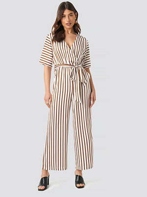 Jumpsuits & playsuits - NA-KD Trend Striped Jumpsuit vit