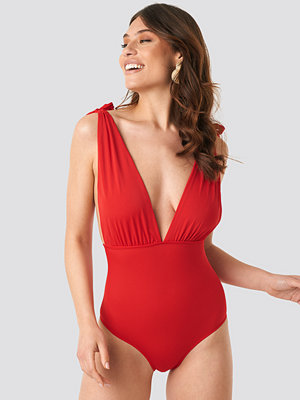 Trendyol Ruffle Detailed Swimsuit röd