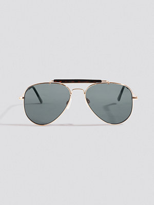 NA-KD Accessories Top Bridge Pilot Sunglasses svart