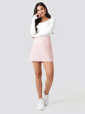 Kjolar - NA-KD Ring Puller A-Line Mini Skirt rosa