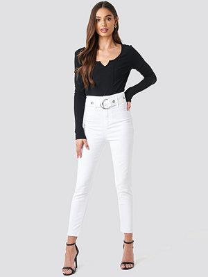 Trendyol Milla High Waist Slim Fit Jeans vit