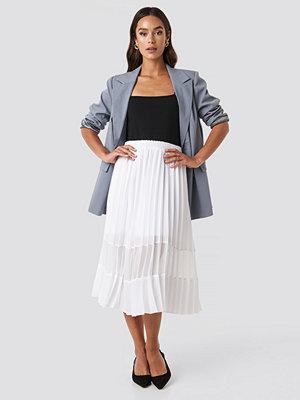 NA-KD Trend Co-ord Pleated Panel Midi Skirt vit