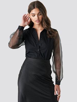 Trendyol Organza Sleeve Shirt svart