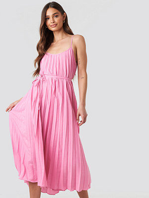 Mango Plisado Dress rosa