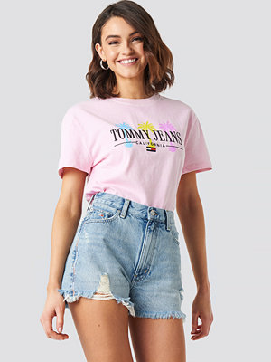 Tommy Jeans Tommy Jeans Summer Palm Tree Tee rosa