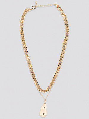 NA-KD Accessories smycke Chunky Chain Pendant Necklace guld