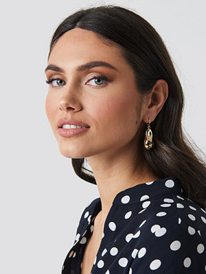 NA-KD Accessories smycke Big Golden Pearl Earrings guld