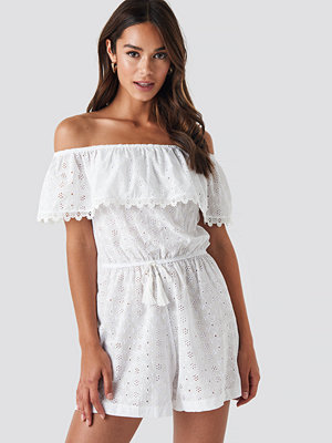 Jumpsuits & playsuits - Trendyol Waist Fringed Playsuit vit