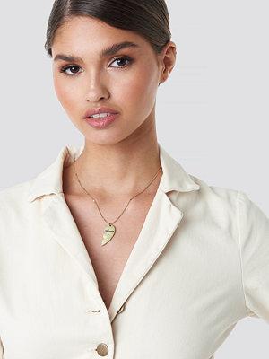 Tina Maria x NA-KD smycke Broken Heart Necklace guld