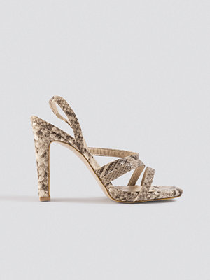 Trendyol Snake Pattern High Heels beige