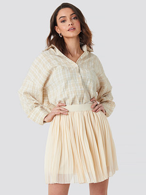 NA-KD Mini Pleated Skirt beige