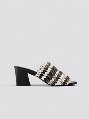 Pumps & klackskor - NA-KD Shoes Braided Upper Mules svart