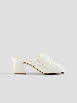 Pumps & klackskor - NA-KD Shoes Braided Upper Mules vit