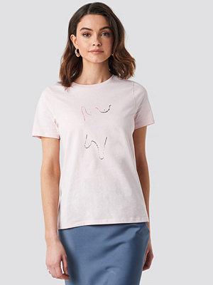 NA-KD Painting T-shirt rosa
