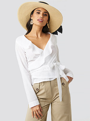 Rut & Circle Frill Wrap Blouse vit