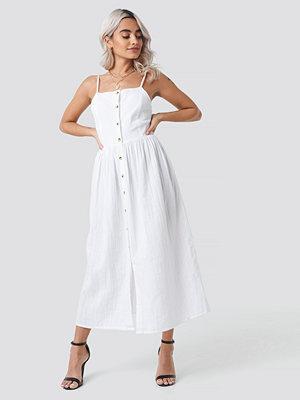 Rut & Circle Button Field Dress vit