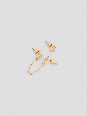 Céline & Talisa x NA-KD smycke Chain Star With Moon Set- 2 pack guld
