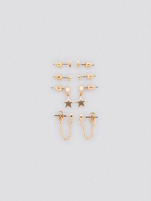 NA-KD Accessories smycke Mixed Mini Earstud Set guld