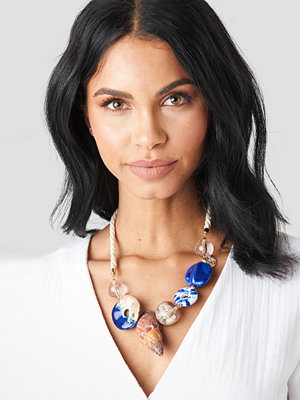 Mango smycke Costeau Necklace beige blå