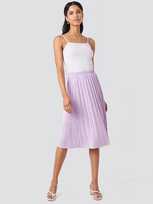 Trendyol Yol Pleated Midi Skirt lila