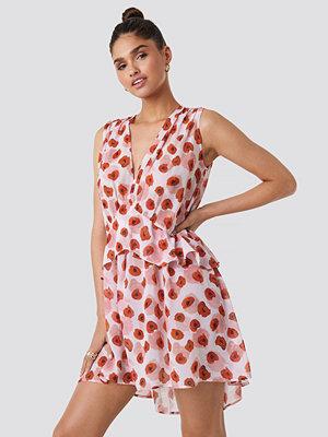 NA-KD Trend Printed Short Chiffon Dress multicolor